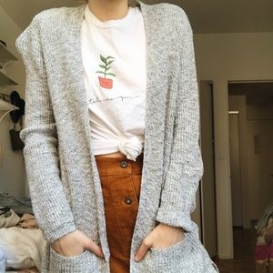 Madewell Sweaters - Madewell Marled Gray Cardigan